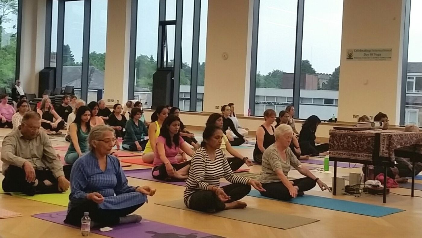 International Yoga Day Bearsden Burgh Hall , Glasgow, 2017
