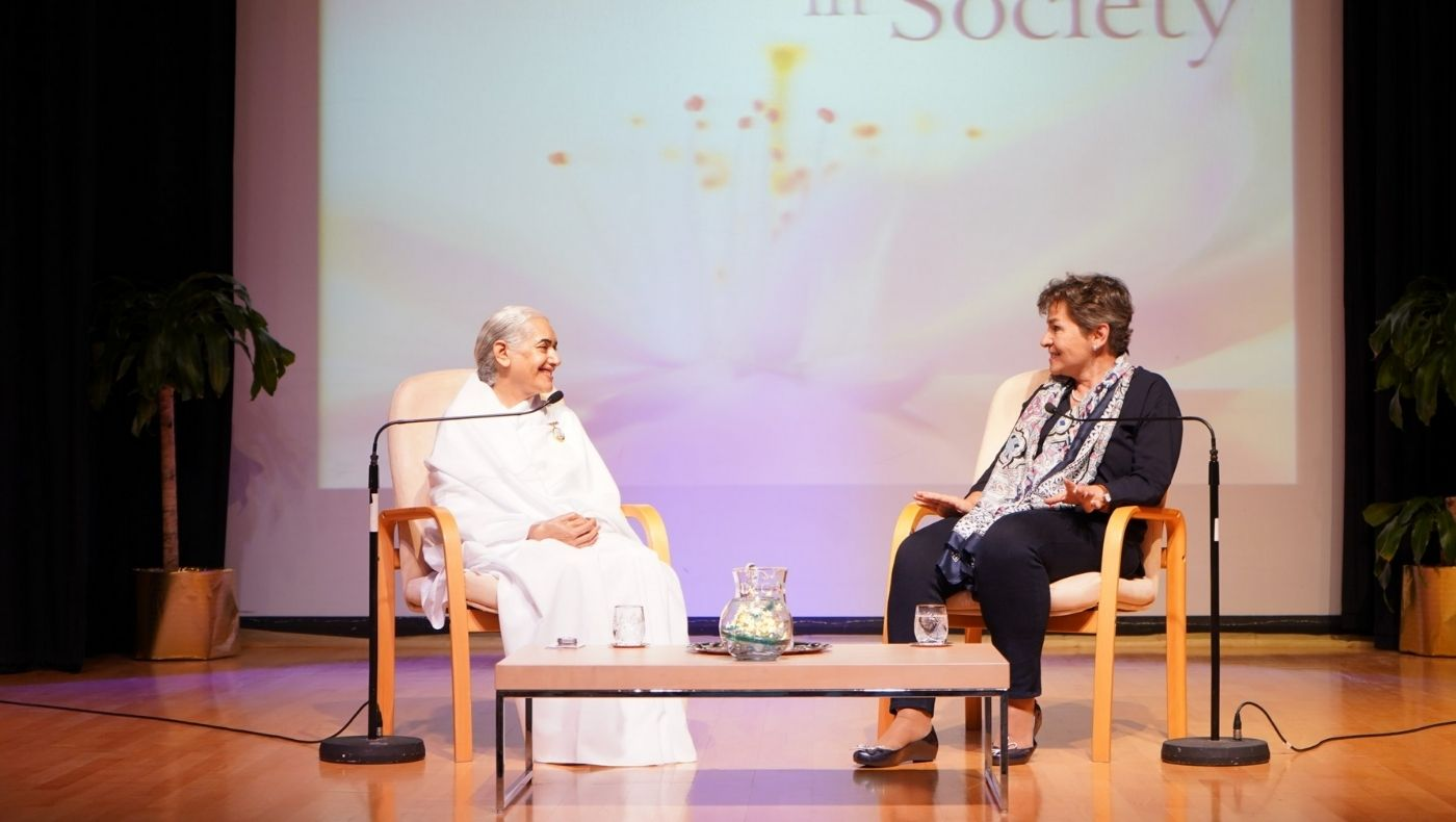 London Climate Action Week: Christiana Figueres and Sister Jayanti discuss Spirituality and Society